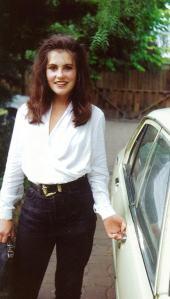 Angela Barnett Stunt Chicken 1991 car