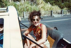 ANgela Barnett stunt chicken jeep